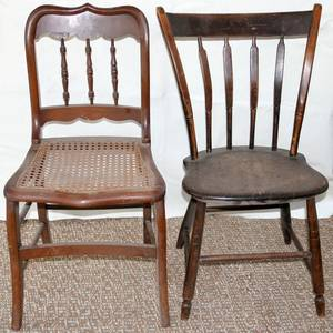 031542 ARROW BACK CHAIR 19TH CENTURY  SIDE CHAIR