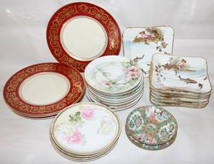 022465 GERMAN FRENCH  CHINESE PORCELAIN PLATES 25