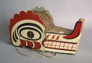 Nootka painted ceremonial mask