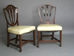 Pair of Hepplewhite mahogany side chairs