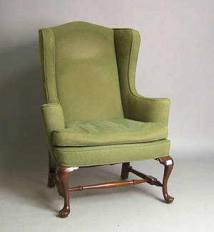 Queen Anne style wing chair