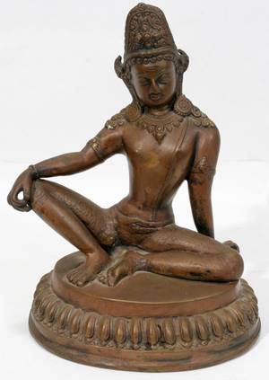 060519 EAST INDIAN STATUE SHIVA H 9 W 6