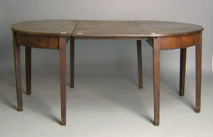 George III mahogany 2part dining table