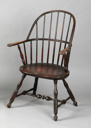 Lancaster County Pennsylvania sackback windsor armchair ca 1766