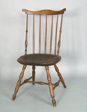 Lancaster County Pennsylvania fan back windsor side chair ca 1770