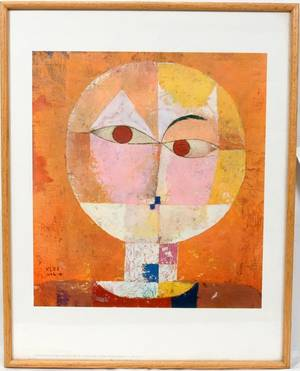032582 AFTER PAUL KLEE PRINT HEAD OF A MAN