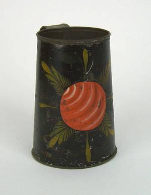 Black tole mug 19th c