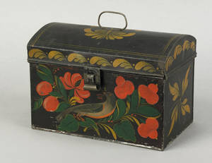 New York black tole document box 19th c