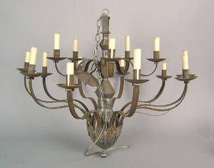 Reproduction tin chandelier