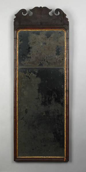 George II mahogany looking glass ca 1730