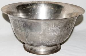 051012 ELLMORE SILVER CO STERLING SILVER PUNCH BOWL