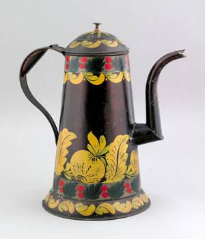 Tole coffee pot 19th c