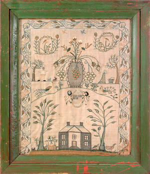 Silk on linen sampler dated 1809