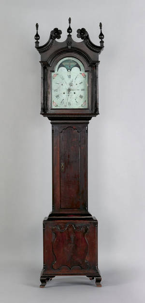 Montgomery County Pennsylvania Chippendale walnut tall case clock late 18th c