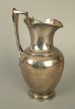 Boston sterling silver pitcher