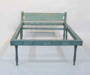 Blue painted press bed late 18th c