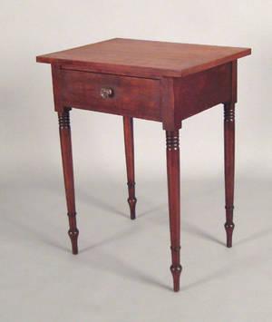 Pennsylvania Sheraton cherry one drawer stand ca 1830