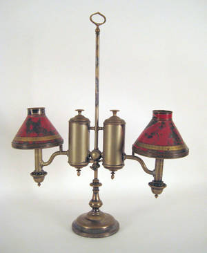 English silver plated student lamp by Pillischer 19th c