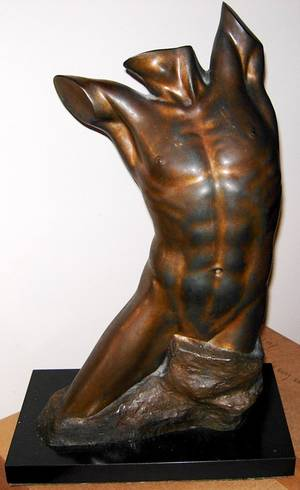 020047 WILKINSON BRONZE SCULPTURE TORSO H 20