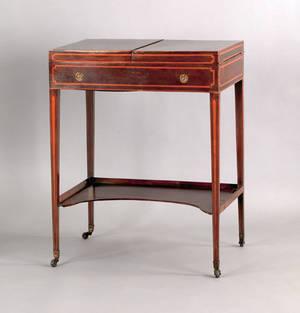 George III rosewood dressing table ca 1790