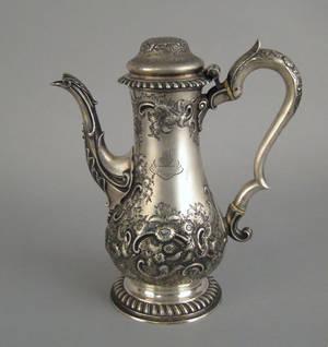 Georgian silver teapot 17641765