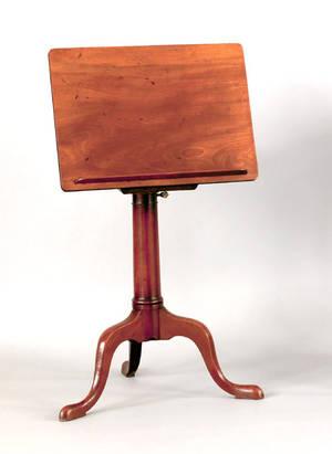 Georgian mahogany reading stand ca 1760