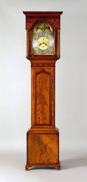 George IV mahogany tall case clock early 19th c