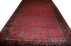 010031 SAROUK DESIGN PERSIAN CARPET 222x136