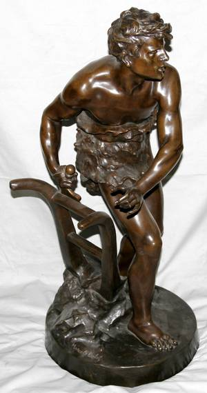 101073 AFTER MARCEL DEBUT BRONZE FIGURAL SCULPTURE