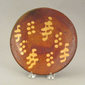 Medinger redware plate