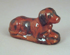Pennsylvania redware figure of a dog 19th c
