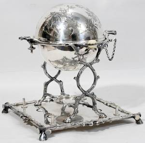 061117 ENGLISH ELECTROPLATE SILVER EGG CODDLER