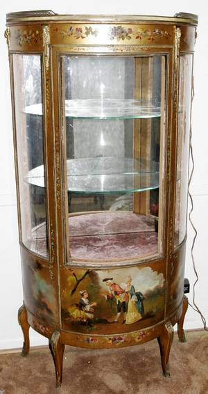 101146 FRENCH VERNIS MARTIN STYLE VITRINE LATE 19TH C