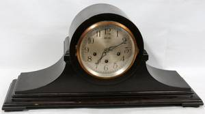 080082 ANSONIA WOOD MANTLE CLOCK H 11 L 22 12