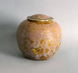 Art pottery covered jar
