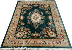 100102 CHINESE ORIENTAL RUG AUBUSSON STYLE 122x9