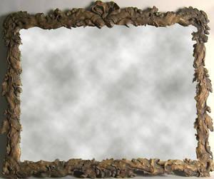 Black Forest carved frame