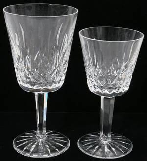 091154 WATERFORD LISMORE CRYSTAL GOBLETS  WINES