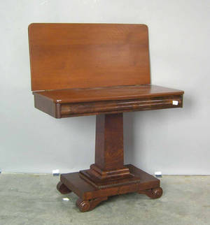 Empire mahogany card table