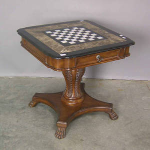 Marble top game table