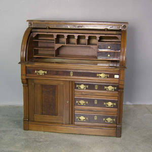 Victorian roll front desk