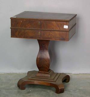 Pennsylvania Empire mahogany sewing stand