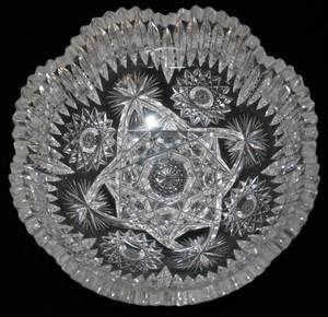 071138 BRILLIANT CUT GLASS FRUIT BOWL C 1900