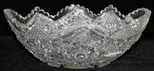 071136 BRILLIANT CUT GLASS FRUIT BOWL C 1900