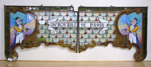 Leaded glass twopart sign for the Incroyable De Paris