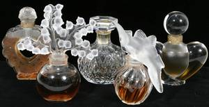 101242 LALIQUE CRYSTAL PERFUME BOTTLES H334 3
