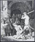 092133 REMBRANDT POSTHUMOUS ETCHING BEHEADING OF JOHN