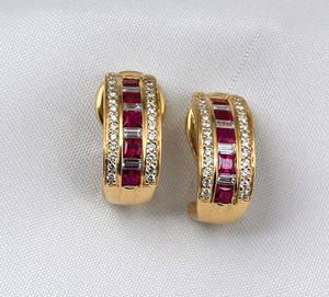 18K yellow gold Spark earrings
