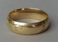 14K yellow gold bangle