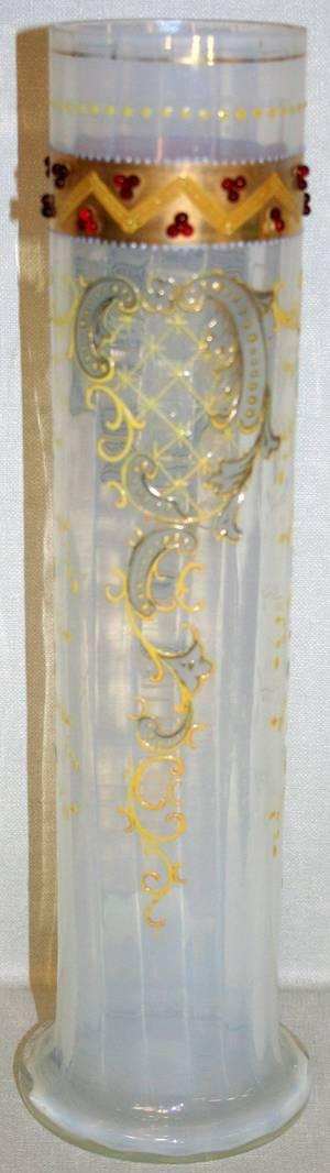 070164 VENETIAN OPALESCENT GLASS VASE C 1900 H 13